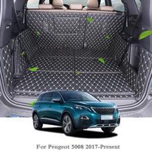 купить For Peugeot 5008 2017-Present Car Boot Mat Rear Trunk Liner Cargo Floor Carpet Tray Protector Internal Accessories Mats по цене 7919.11 рублей