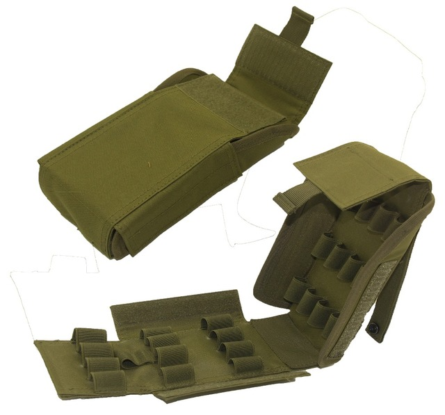 tactical ammo shells shotgun reload magazine pouch army molle 25