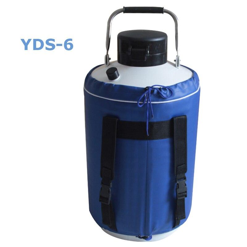 6л резервуар для жидкого азота из алюминиевого сплава криогенный контейнер для хранения жидкого азота YDS-6 title=