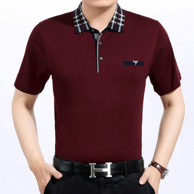 High quality spring Summer Men's polo shirt business casual solid polo shirt brand men's short sleeve polo camisa polos Tops