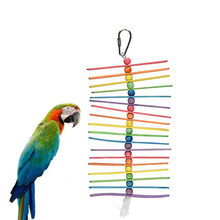 Bird Toy Small Parrot Hanging Tearing Toy and Popsicle Sticks Bird Toy For Pet Apparel Accessories Drop Shipping Pet Product #13(China)
