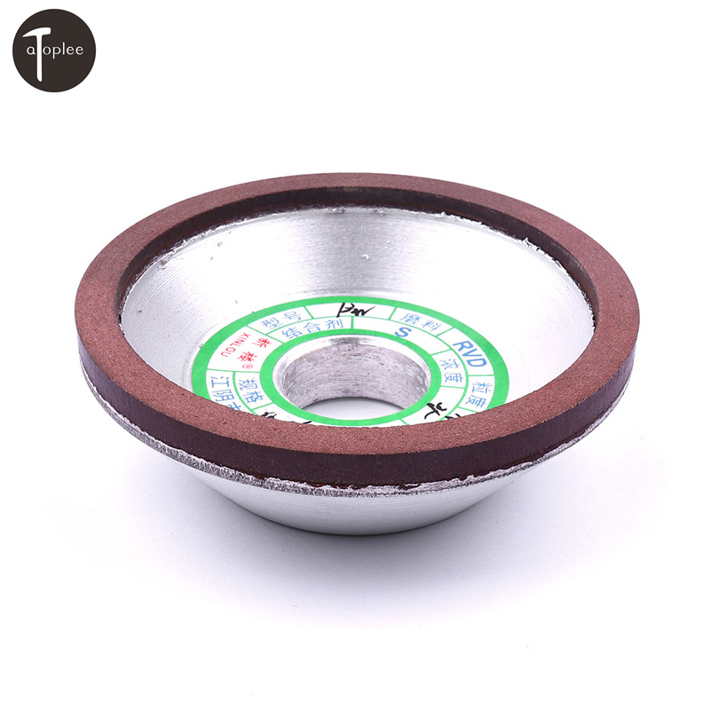 100x20x10x5mm diamond grinding wheel cup grinding circles for tungsten steel milling cutter tool sharpener grinder accessories 1pc 75mm Diamond Grinding Wheel Grinding Dish Wheel RVD 180# Grain For Milling Cutter Tool Sharpener Grinder Power Accessories