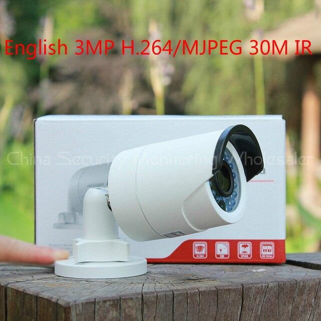 HotSale DS-2CD2032F-IW Original English with WiFi 3MP Mini Bullet Camera Network IP camera IP66 CCTV Camera IP Camera IR 30M POE