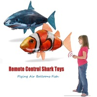 Remote Control Flying Shark Toy Swimming Clown Fish Balloons Inflatable Helium Electric RC Air Plane Party Decoration Best Gift