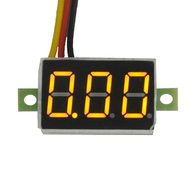 0,36 zoll DC LED Digital Voltmeter 0-100V Spannung Meter Auto Auto Mobile Power Spannung Tester Detektor 12V Rot Grün Blau Gelb