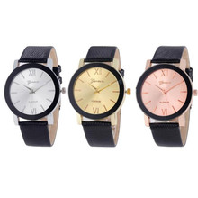 Watch Women New Luxury Brand Quartz Sport Sport Military Stainless Steel Dial Leather Band Wrist Watch wholesale Free shipping