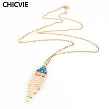 Модные ожерелья chicvie с бусинами из натурального камня для