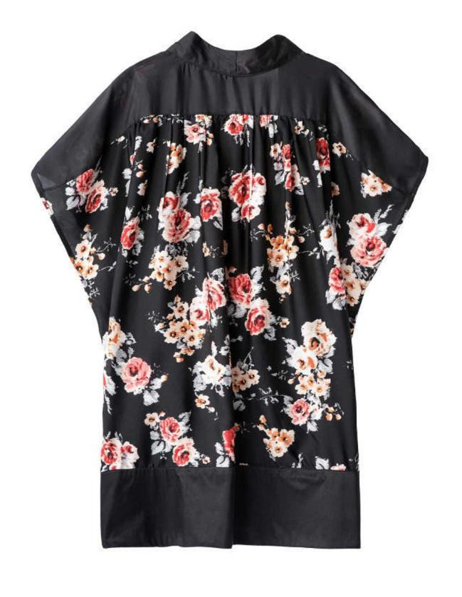 KANCOOLD Women Casual kimono Outerwear Floral Printed Cardigan Splice Chiffon Shawl Cardigan Tops Cover up female PJ0723 cardigan