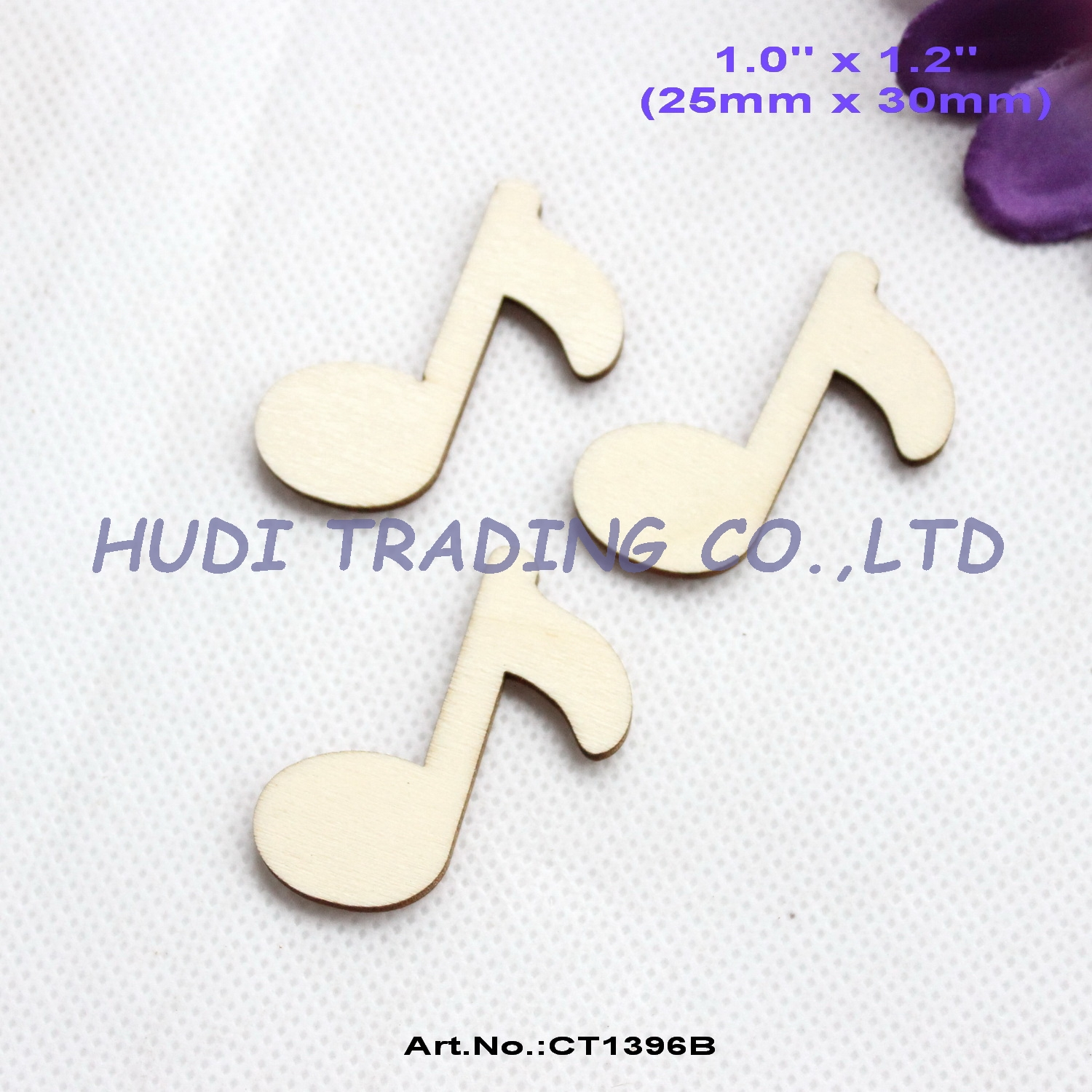 (100pcs/lot) 30mm Natural Blank Wooden Music Sign Rustic Favor Wood Music Notes 1.2- CT1396B