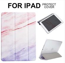 dropshipping Marble Magnet Flip Cover For iPad 2 3 4 Air2 Mini 1 2 3 4 mini5 Tablet Case cover for iPad 2017 2018 cute girl mini4 magnet flip cover for ipad pro 9 7 10 5 air air2 mini 1 2 3 4 tablet case for new ipad 9 7 2017 2018 a1893