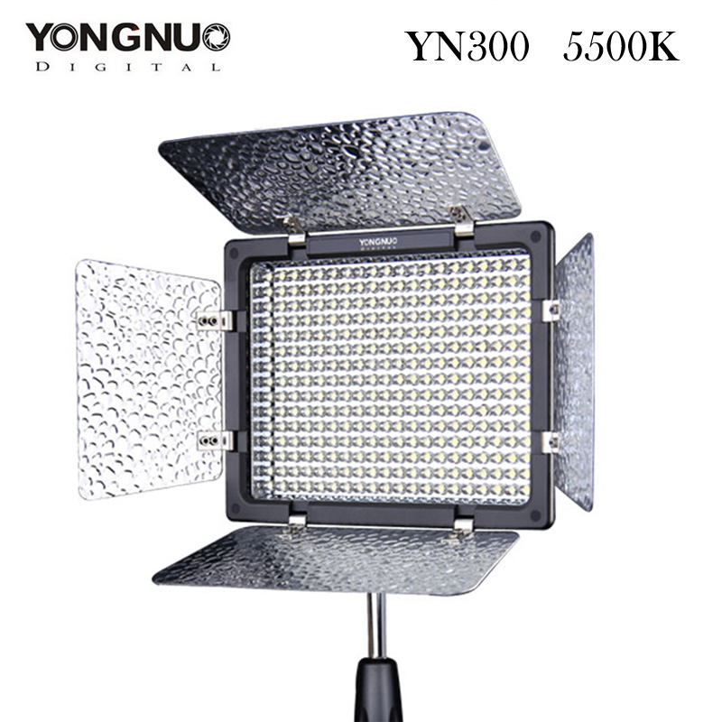 ФОТО YONGNUO YN300 LED Video Light 300 LED Lamp Lights Photographic Lighting 5500K for Photo Studio DSLR Camera Camcorder