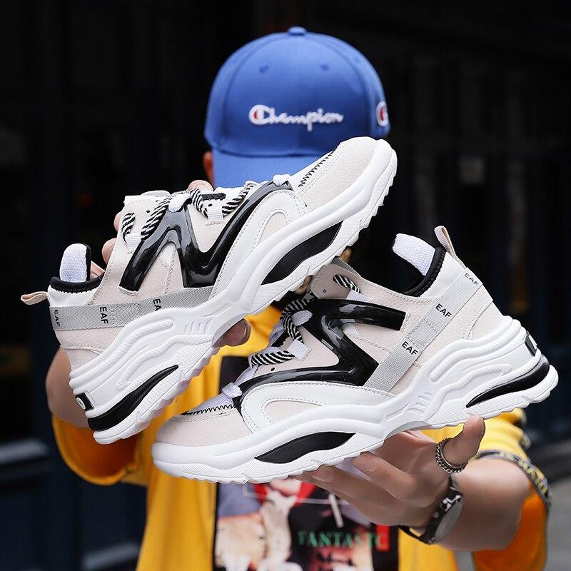 2019 Harajuku Autumn Vintage Sneakers Men Breathable  Adult Sneakers