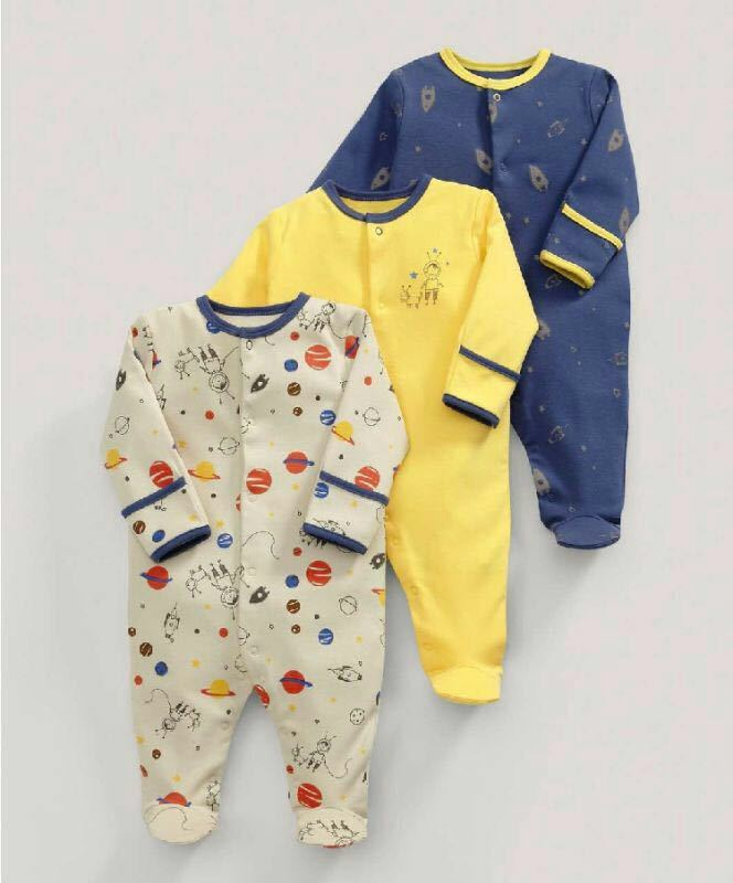 3 Pcs Baby Boys Footed Jumpsuit Cotton Newborn Clothes Long Sleeve Toddler Sleepwear Pajamas Infant Clothing 2018 newborn baby girls rompers 100% cotton long sleeve angel wings leisure body suit clothing toddler jumpsuit infant boys clothes