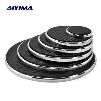 AIYIMA 2Pcs Audio Speakers Protective Cover 1/2/3/4/5/6.5 Inch Protective Mesh Net Grille DIY For Home Theater finlemho neodymium speakers for line array speaker home theater professional audio de400 44mm voice coil stage studio audio