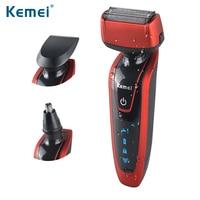 Kemei5889 Reciprocating 3 In 1 Razor Rechargeable Electric Shaver Triple Blade Shaving Razors Men Face Care
