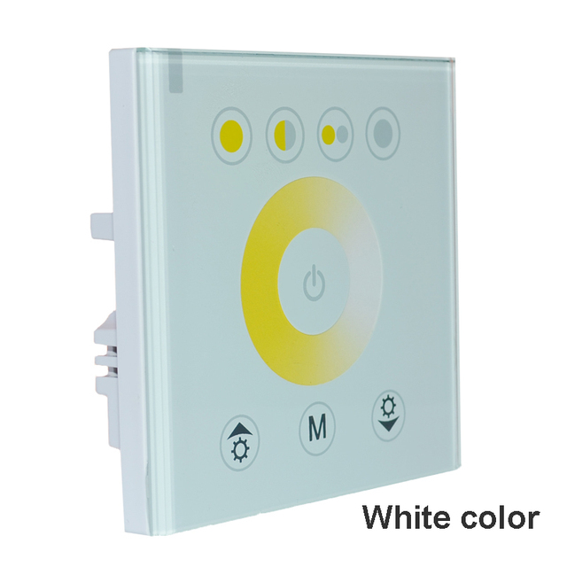 DIY home lighting Color Temperature LED Touch switch Panel Controller led dimmer for DC12V LED strip lights