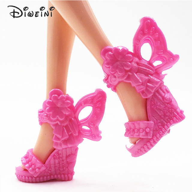DIWEINI 12PCS Shoes for Barbie Dolls Toys Fashion Doll Accessories Baby Toys Girls Gift Princess fairy tale shoes