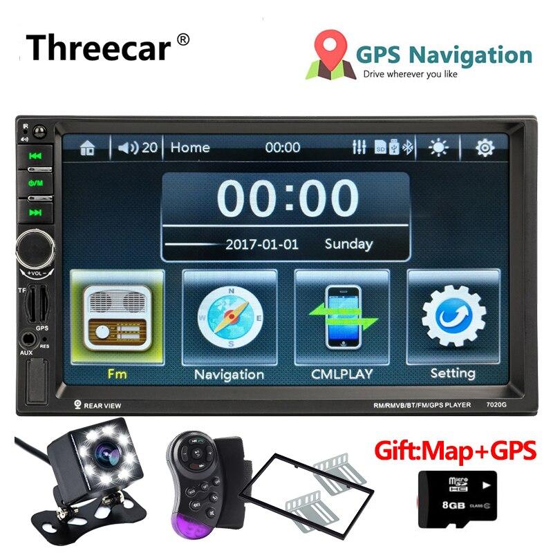 GPS Navigation 7020G Autoradio 2 Din multimédia Autoradio stéréo lien miroir Mp5 lecteur FM USB Bluetooth Auto Autoradio