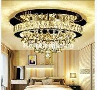 Бесплатная доставка Современные Нержавеющаясталь потолок лампа LED Crystal потолочный светильник 36 Вт AC огни украшение дома Лампы для мотоцик