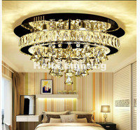 Free Shipping Modern Stainless Steel Celling Lamp LED Crystal Ceiling Lamp 36W AC Lights Home Decoration Lamps Remote Controller