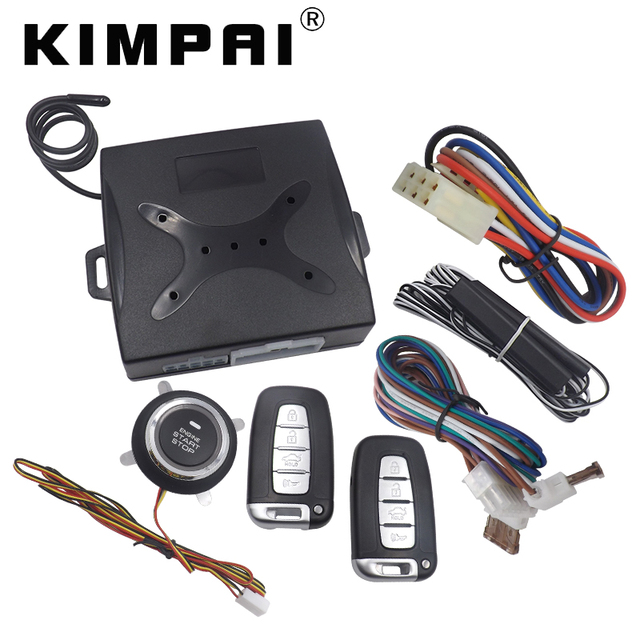 KIMPAI Car Passive Keyless Entry System Remote Engine Alarm Unlock ...