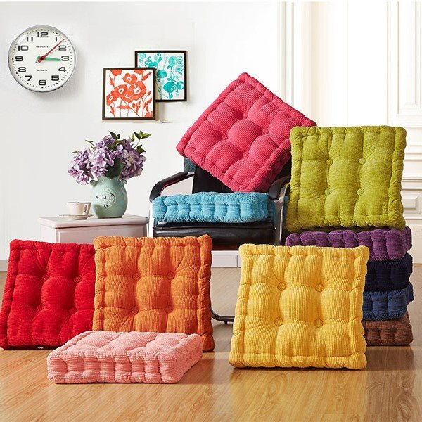 VOZRO Corncob Tatami Seat Office Chair Sofa Fabric Outdoor Cushions Home Decor Textile Knee Pillow Coussin Almofada Decorativa(China)