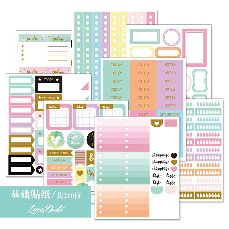 Lovedoki Handmade Sticker Planner Accessories Dokibook Notebook Decorative Stickers Scrapbooking DIY School Stationery Store