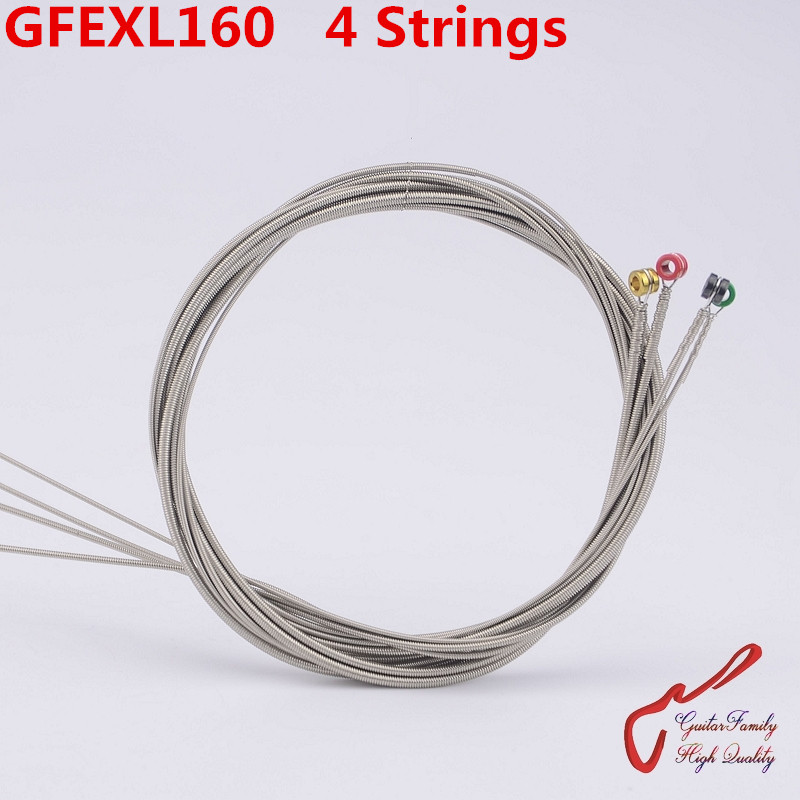 1 Set GuitarFamily GFEXL160 Nickel Wound 4 Strings Electric Bass String ( 050-105 ) Made IN USA