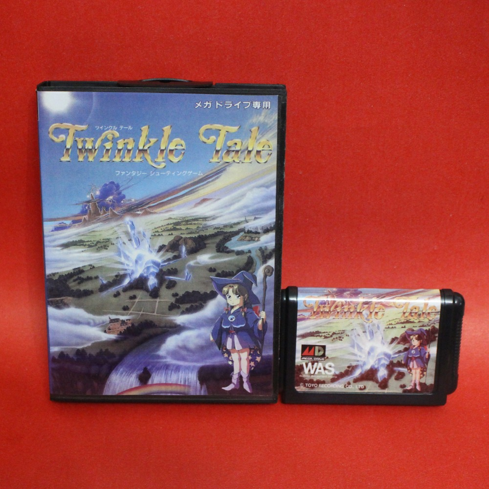 Twinkle Tale 16 bit MD card with Retail box for Sega MegaDrive Video Game console system