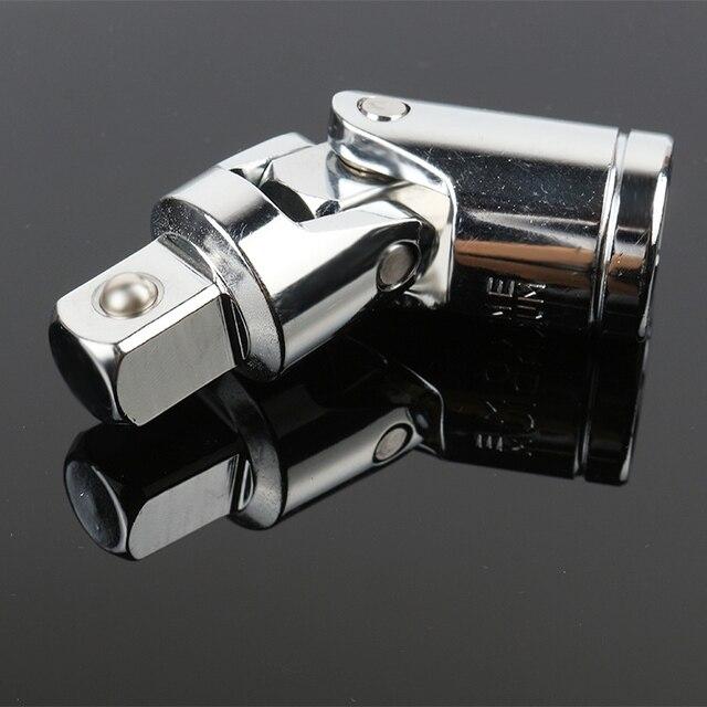 "3pcs Universal Joint Set Ratchet Angle Extension Bar Socket Adapter 1/4"" 3/8"" 1/2""Socket Wrench Repair Hardware Tool Set"