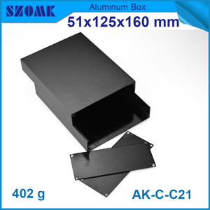 Image 3 - 1 piece aluminum instrument case for electronic project box in black with brushed 51*125*160mm
