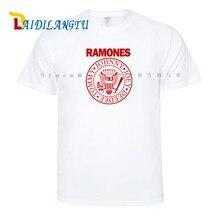 08a99e734 Banda de Rock Ramones hombres camisetas Hip Hop camisetas impresión manga  corta Camiseta cuello redondo(
