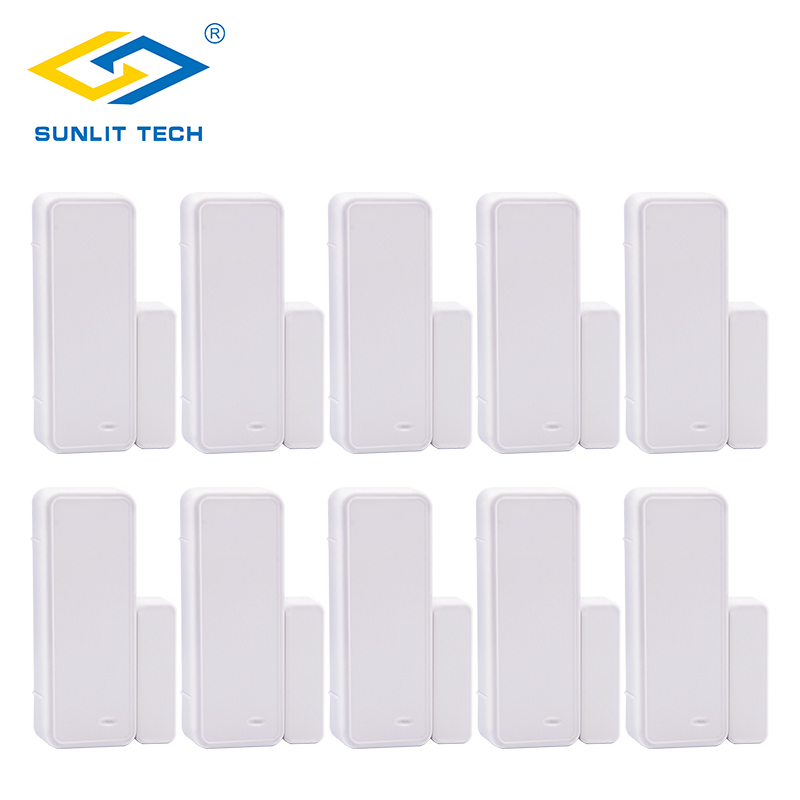 10pcs Two Way Wireless Window Door Gap Sensor Intelligent Magnetic Contact Sensor Detect Door Open for Home Burglar Alarm System smartyiba 433mhz wireless door window sensor door open detection alarm door magnetic sensor door gap sensor for alarm system