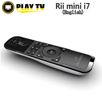 Original Rii Mini i7 2.4G Sem Fio Fly Air Mouse Remoto controle para Android TV Box mini Gaming PS3 X360 Inteligente PC