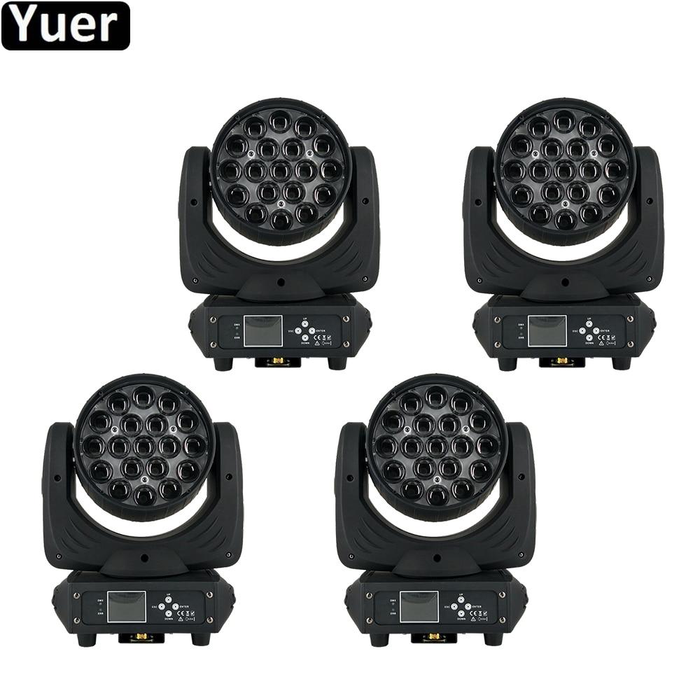 4Pcs Lot 19x15W LED Moving Head Zoom Beam Wash Light LED 6 15 Degree Beam Zoom