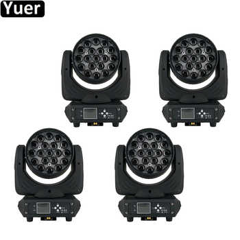 4Pcs/Lot 19x15W LED Moving Head Zoom Beam Wash Light LED 6-15 Degree Beam Zoom Stage Lighting Music DJ Disco Equipment - DISCOUNT ITEM  0% OFF All Category