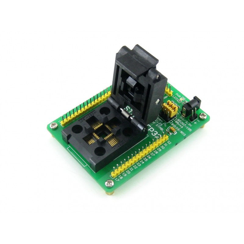STM8-QFP32 # QFP32 TQFP32 FQFP32 PQFP32 STM8 Yamaichi IC Test Socket Programming Adapter 0.8mm Pitch m48 adp atmega48 atmega88 atmega168 tqfp32 avr programming adapter test socket