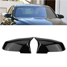 купить 1 Pair Rearview Mirror Covers Glossy Black For BMW F20 F22 F23 F30 F31 F32 F33 F36 F87 M2 X1 E84 Car Mirror Covers по цене 1710.35 рублей
