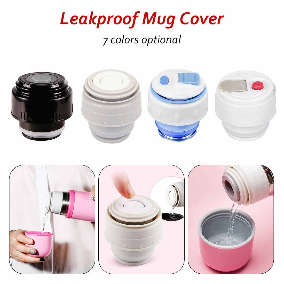 4.5/5.2 Cm Kogel Kolf Cover Thermoskan Deksel Drinkware Cup Accessoires Mok Outlet Travel Cup