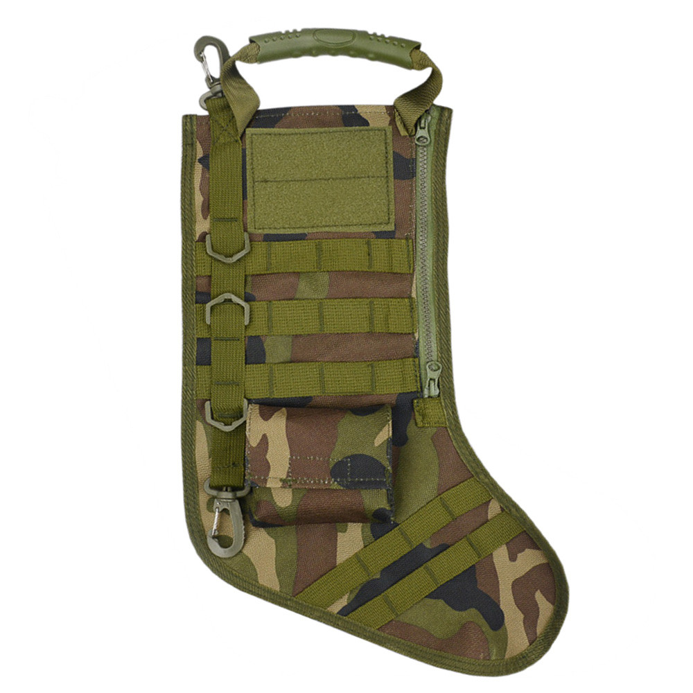 Hot Sale Outdoor Tool Tactical Christmas Stocking Molle Military Christmas Stocking Desert Woodland Best Gift For Boy Friend #6 Meticulous Dyeing Processes Pottery & Glass