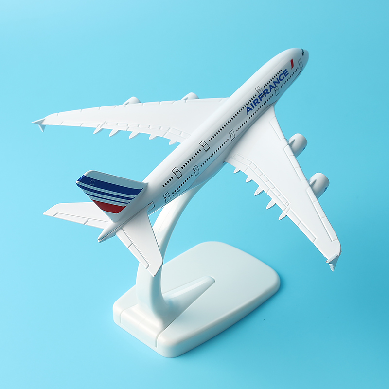A380 Air France F-BVFB Concorde 16cm Assembly Metal Aircraft model Children Birthday gift Souvenir Display