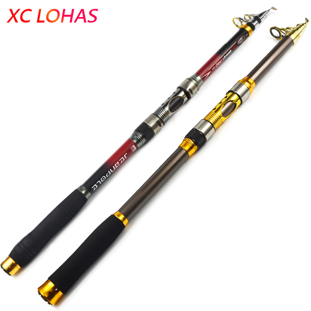 Quality Carbon Fiber Telescopic Fishing Rod 2.1/2.4/2.7/3.0/3.6m High Performance Sea Fishing Pole Tackle Yuelong