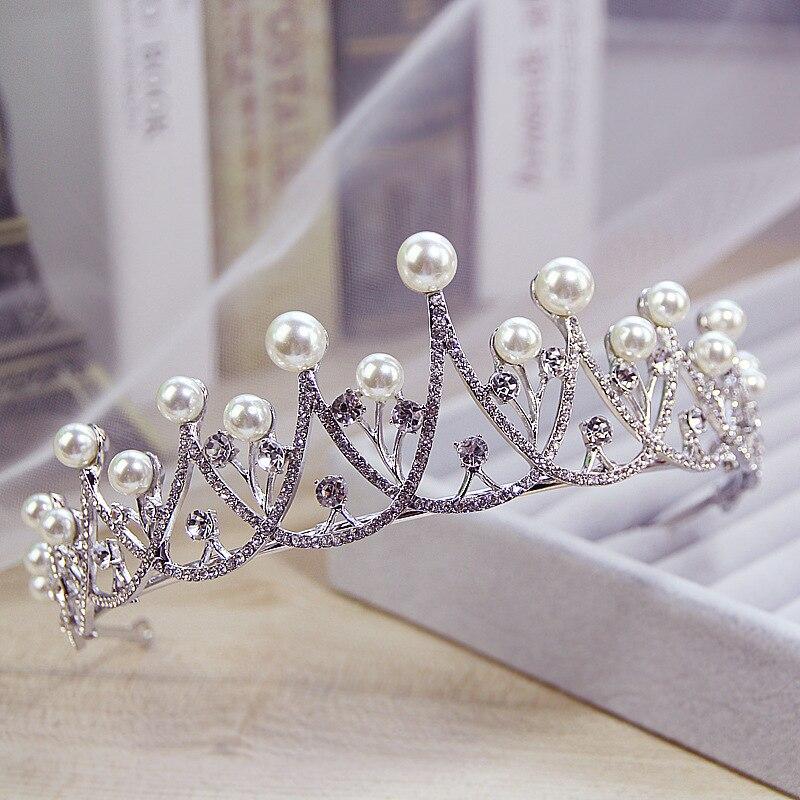 Jewelry-Accessories Wedding-Dress Bride-Crown Selling-Hair Korean-Pearl International-Station