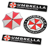 car-styling-3d-aluminum-alloy-umbrellacar-stickers-resident-evil-decals-for-kiajaguarinfinitifiatland-roverminicheryford
