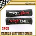 2 шт./пара Для Toyota TRDsport Углерода Ремень безопасности Обложка Универсальный JDM