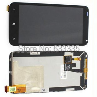 ФОТО 2pcs LCD Display Touch Screen Digitizer Assembly For HTC Radar 4G Omega C110E front outer glass black white