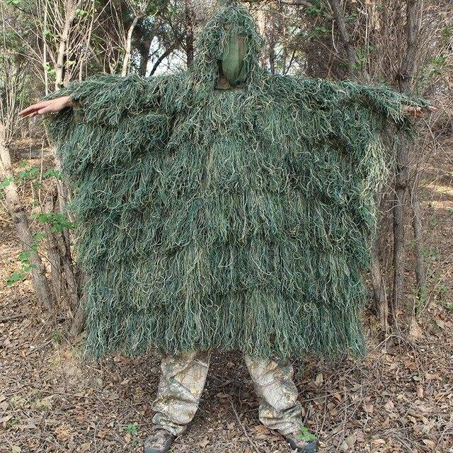 Мужской открытый охотничий маскировочный костюм Топ Мужской Камуфляжный охотничий позолоченный Костюм Уличная охота в джунглях плащ пончо