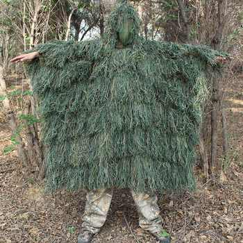 Men Outdoor Hunting Ghillie Suit Ghillie Clothes Top Men Camouflage Hunting Gilley Suit Outdoor Jungle Hunting Cloak Poncho - DISCOUNT ITEM  40% OFF Sports & Entertainment