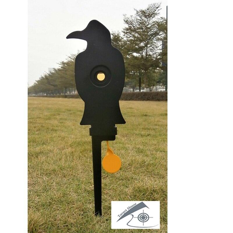 Airgun Crow Field Target W. 2 Hidden Bullseyes' Rings/AlsoFor Airsoft Paintball Shooting/Improving HuntingShootingTactical Skill