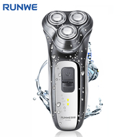 RUNWE RS980 Safety Swith Lock Electric Shaver For Men Personal Care Appliances Washable 3D Floating Rotary